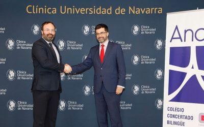 Firma del convenio de colaboración entre la Clínica Universidad de Navarra y Andel Instituto Tecnológico