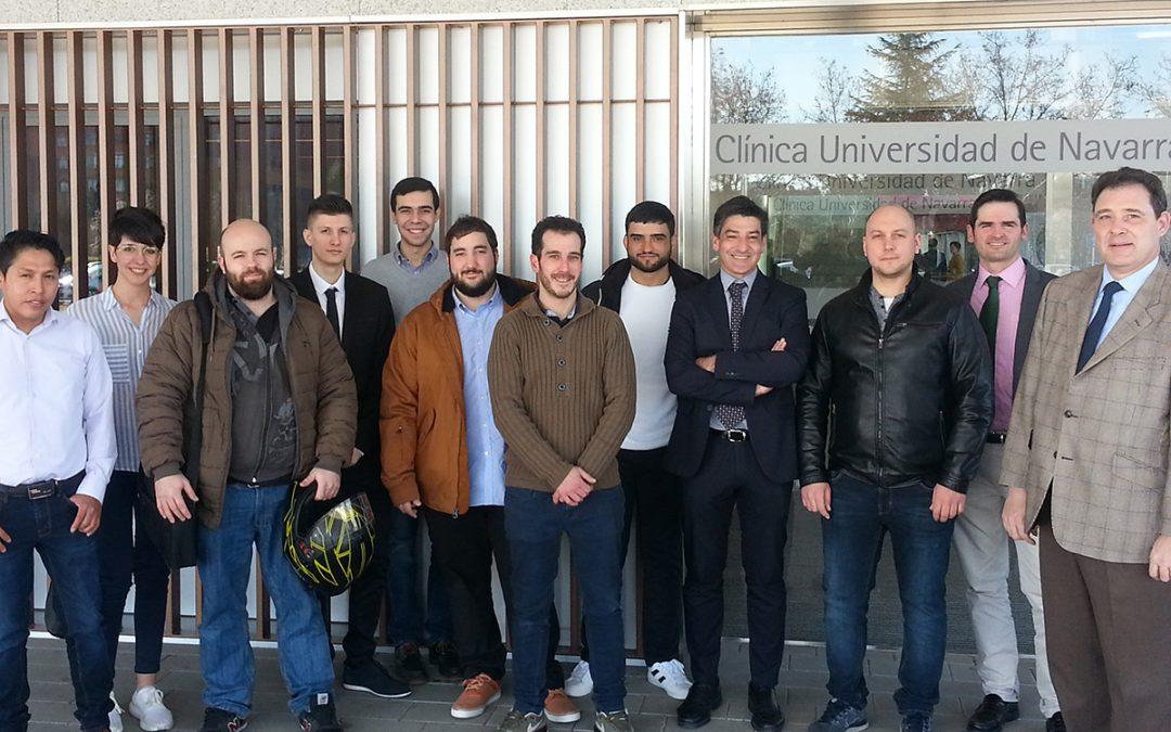 Visita de los alumnos del CFGS Electromedicina Clínica a la  Clínica Universidad de Navarra en Madrid